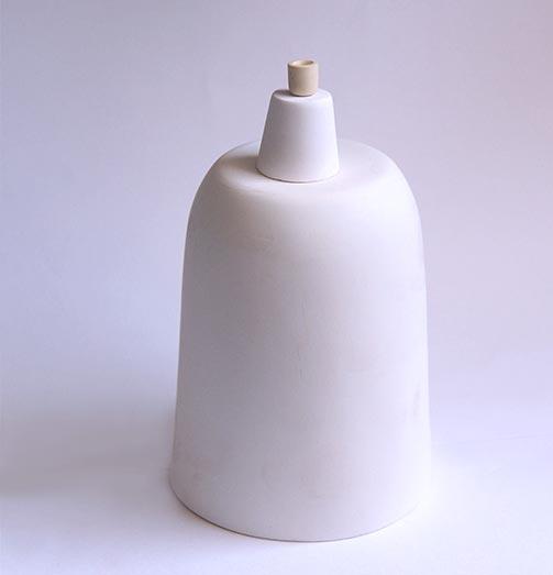 cadinho de cerâmica em 3 tamanho muito distintos