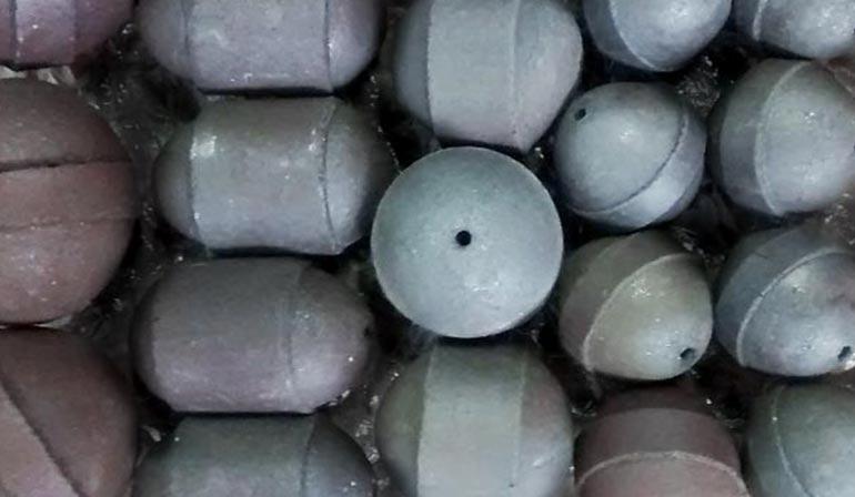 Chumbada ecológica em cerâmica não poluente